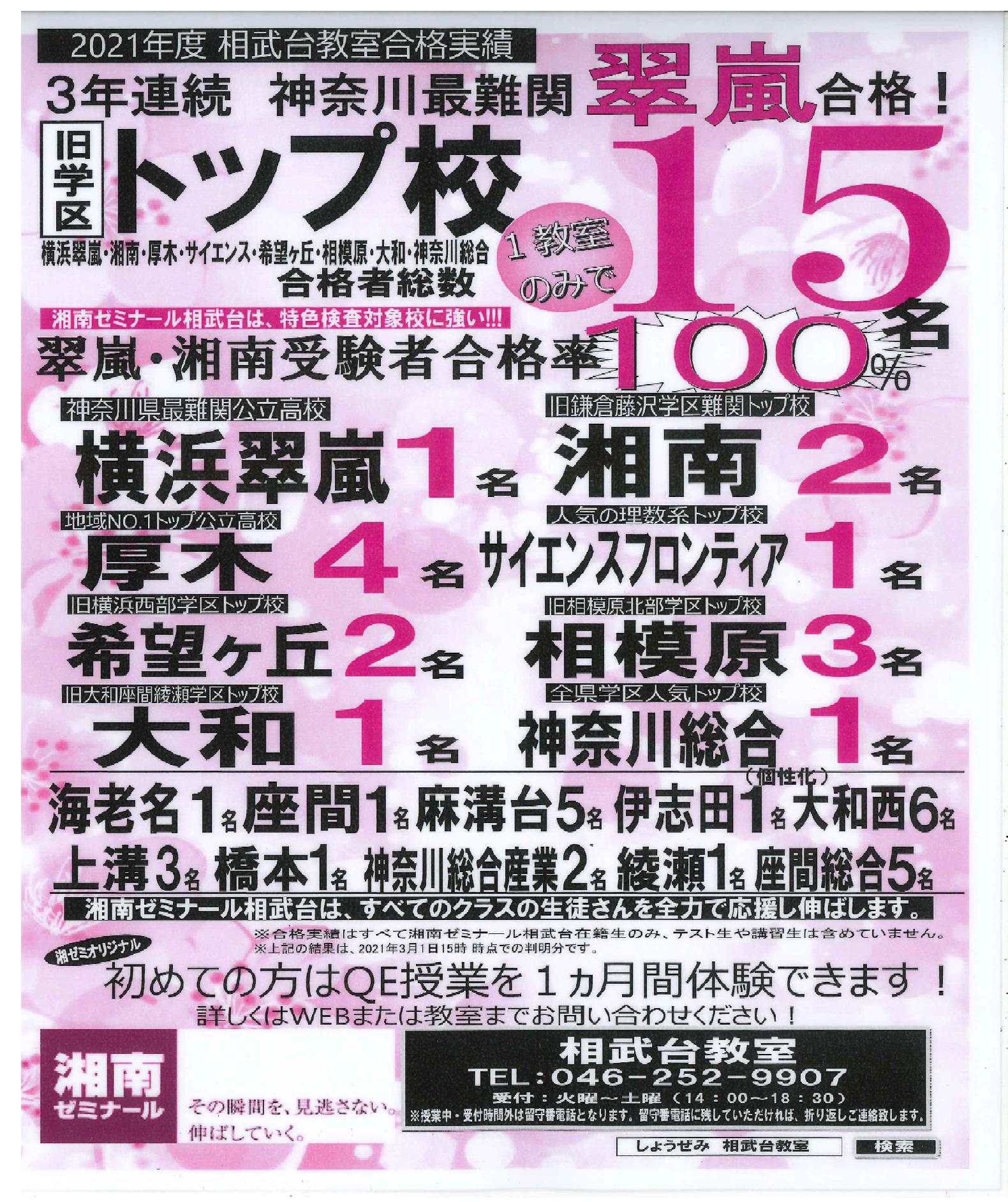 2021 湘ゼミ相武台 入試結果チラシ4 .png